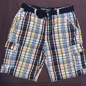 Plaid Mend shorts